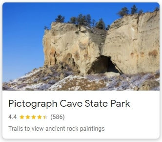 Pictograph Cave State Park in Billings